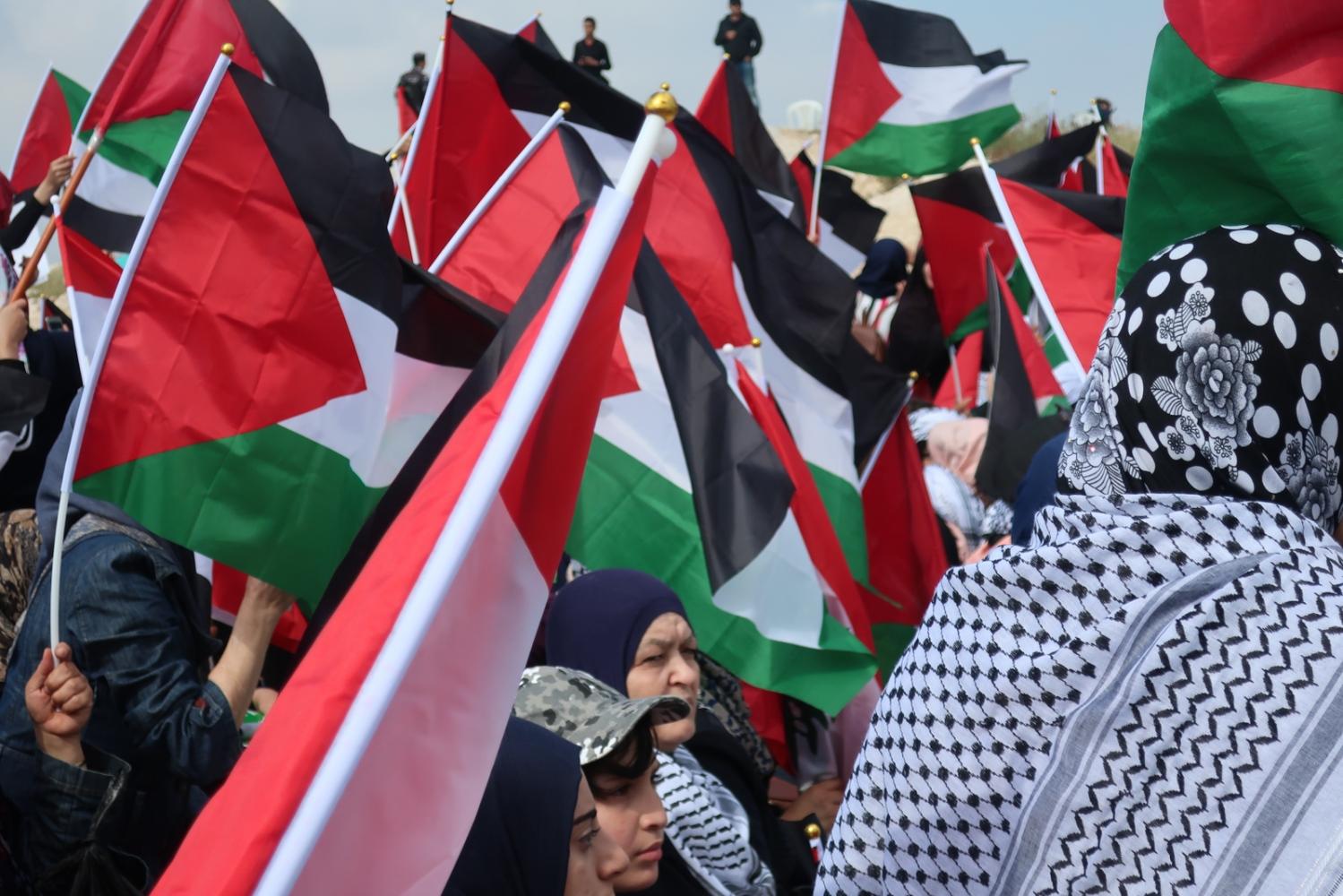 Liban - Fort de Beaufort - Femmes palestiniennes - 2018. Des femmes palestiniennes manifestent à l'occasion de la marche du grand retour pour l'anniversaire de la Nakba.