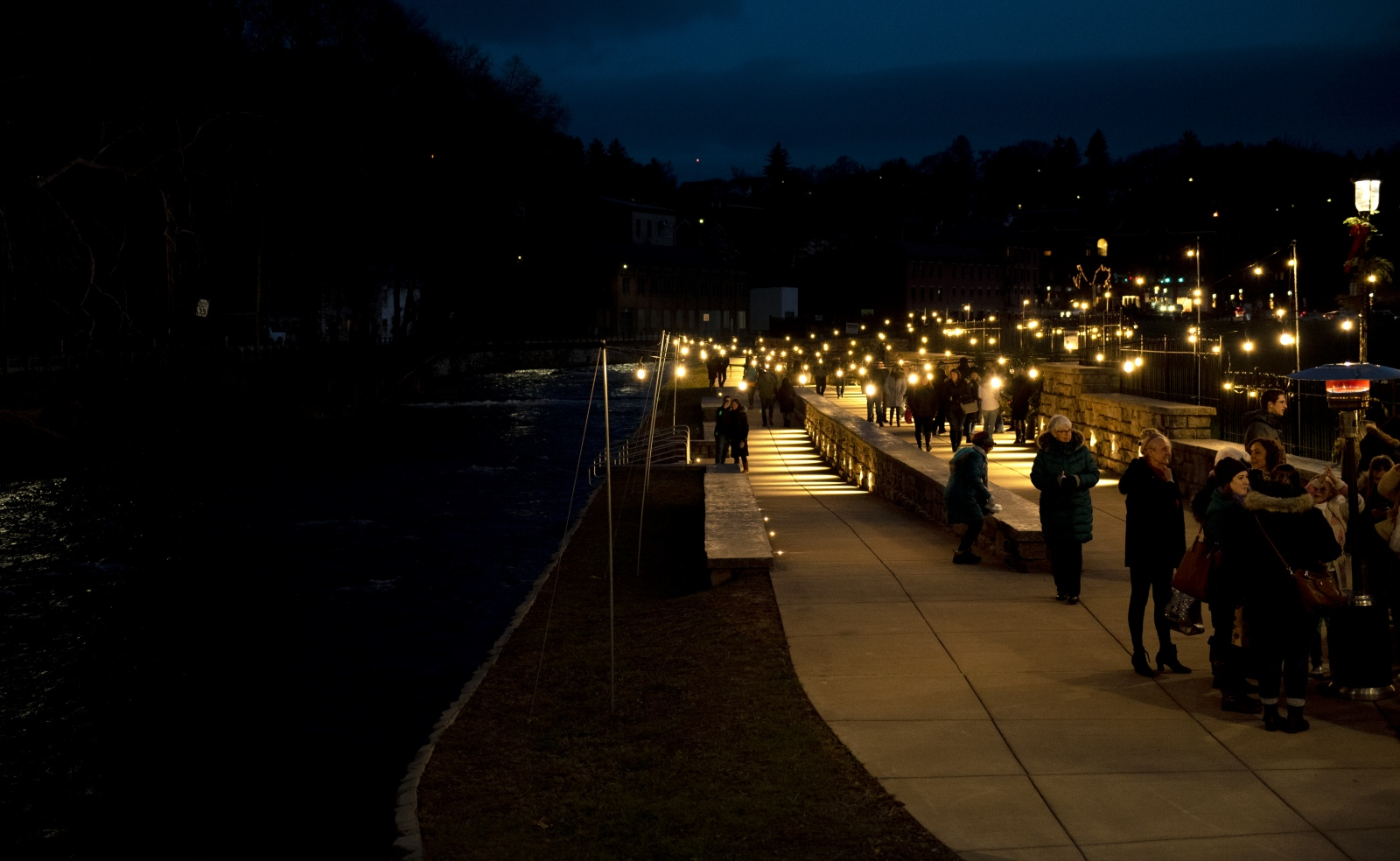 The Bellefonte Lights Winter Market is held along the waterfront walk and the Lamb Street bridge Saturday, Dec. 8, 2018, in Bellefonte, Pa.