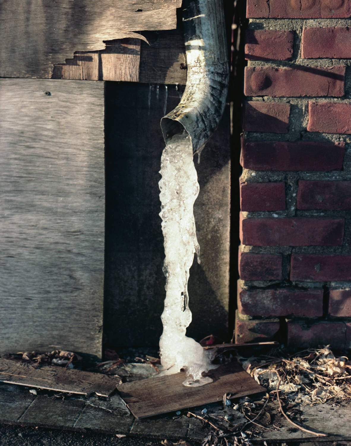 Frozen Downspout