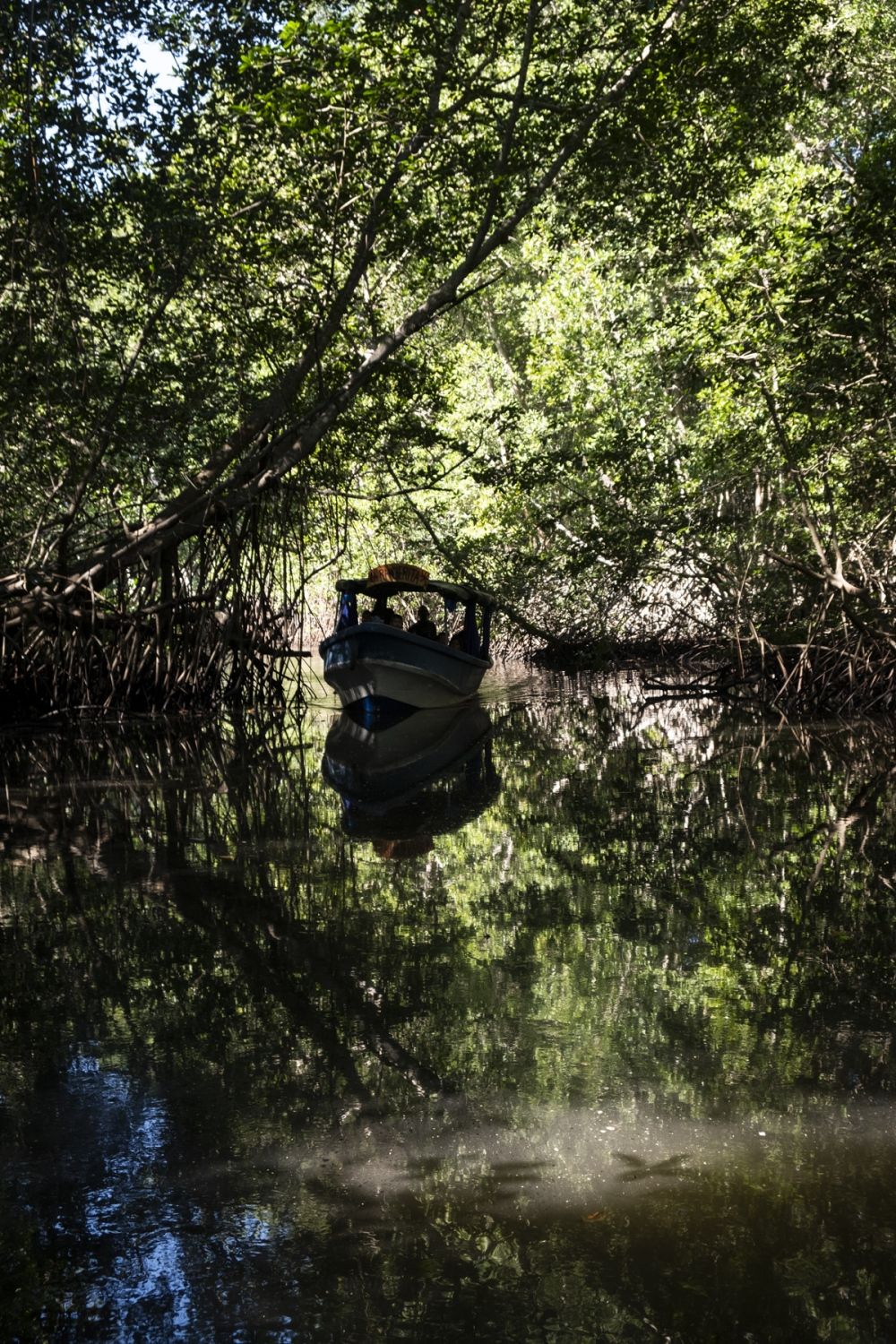 "Tourists visit the mangrove ecosystem of La Barra de Santiago. According to local experts, the community is impacted by local tourism as there is not enough investment in the area. ""La Barra is completely forgotten,"" said Jose Antonio Villedas, an employee of El Salvador's ministry of environment."