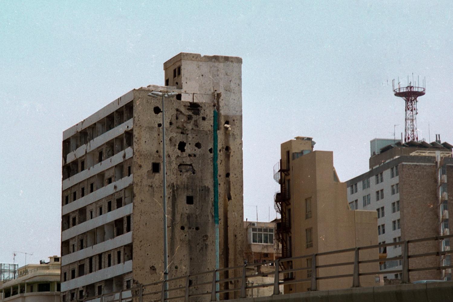 Liban - Beyrouth - Traces de la guerre civile - 2006