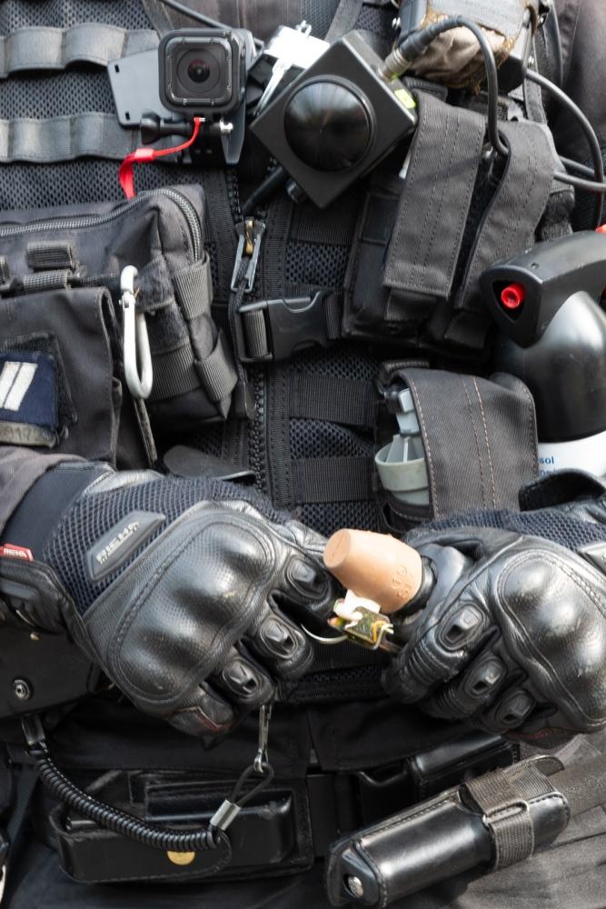 1er mai 2019 - Paris - Manifestation Equipement policier