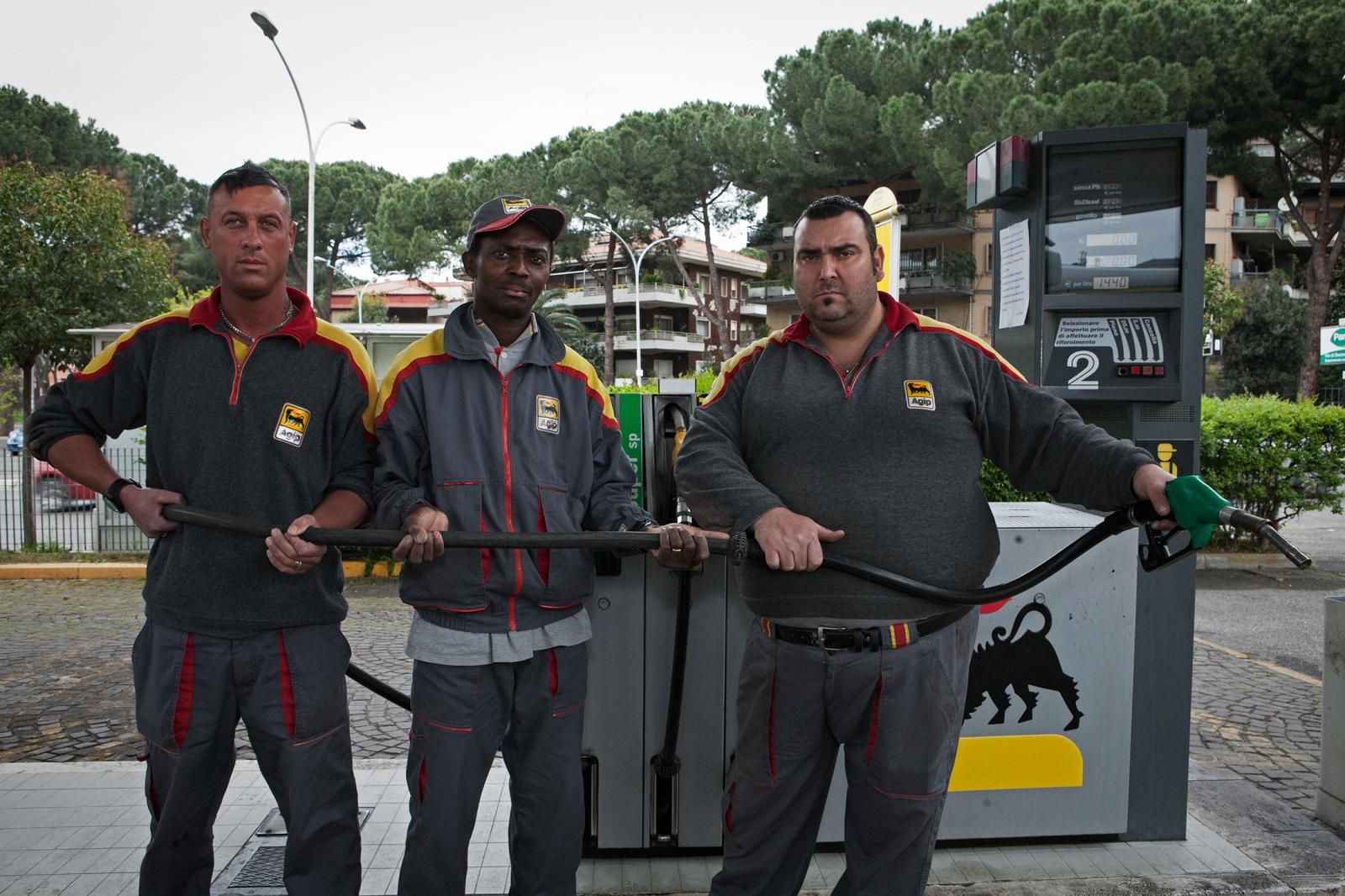 Fulvio, Giacinto e Marco GAS STATION ATTENDANTS