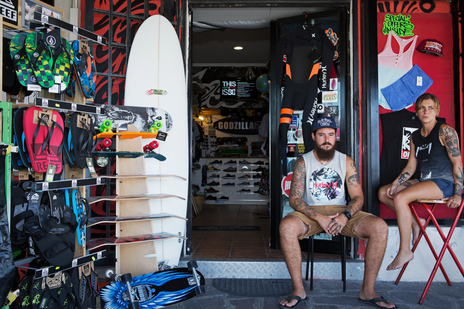 Davide e Valeria SURF STORE OWNERS