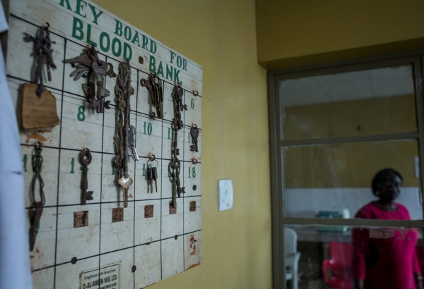 Some keys to various refrigerators and offices in the blood bank at the University College Hospital, (UCH) Ibadan