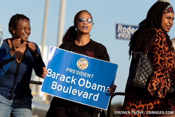 Obama Boulevard Street Naming Celebration in Los Angeles