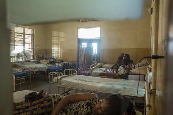 Mothers and their babies rest in a maternity ward at Adeoyo maternity hospital, Ibadan.