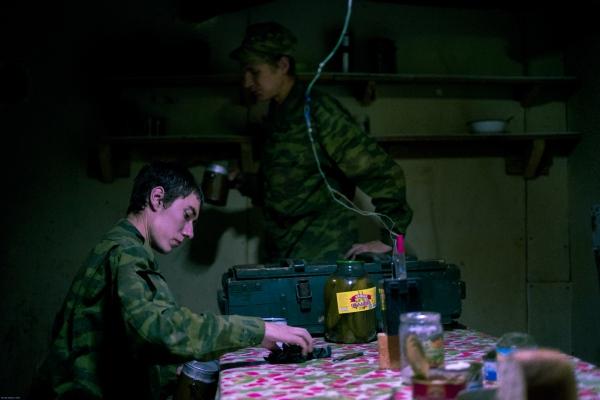 DONETSK- UKRAINE : Colors of war