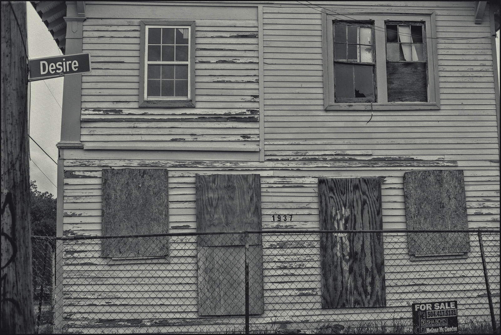 Boarded house, 9th Ward, ByWater district, New Orleans,LA. 2019.