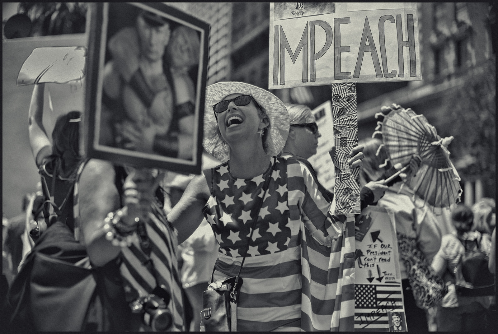 Impeach protest. July 4th, 2017 Los Angeles. CA.