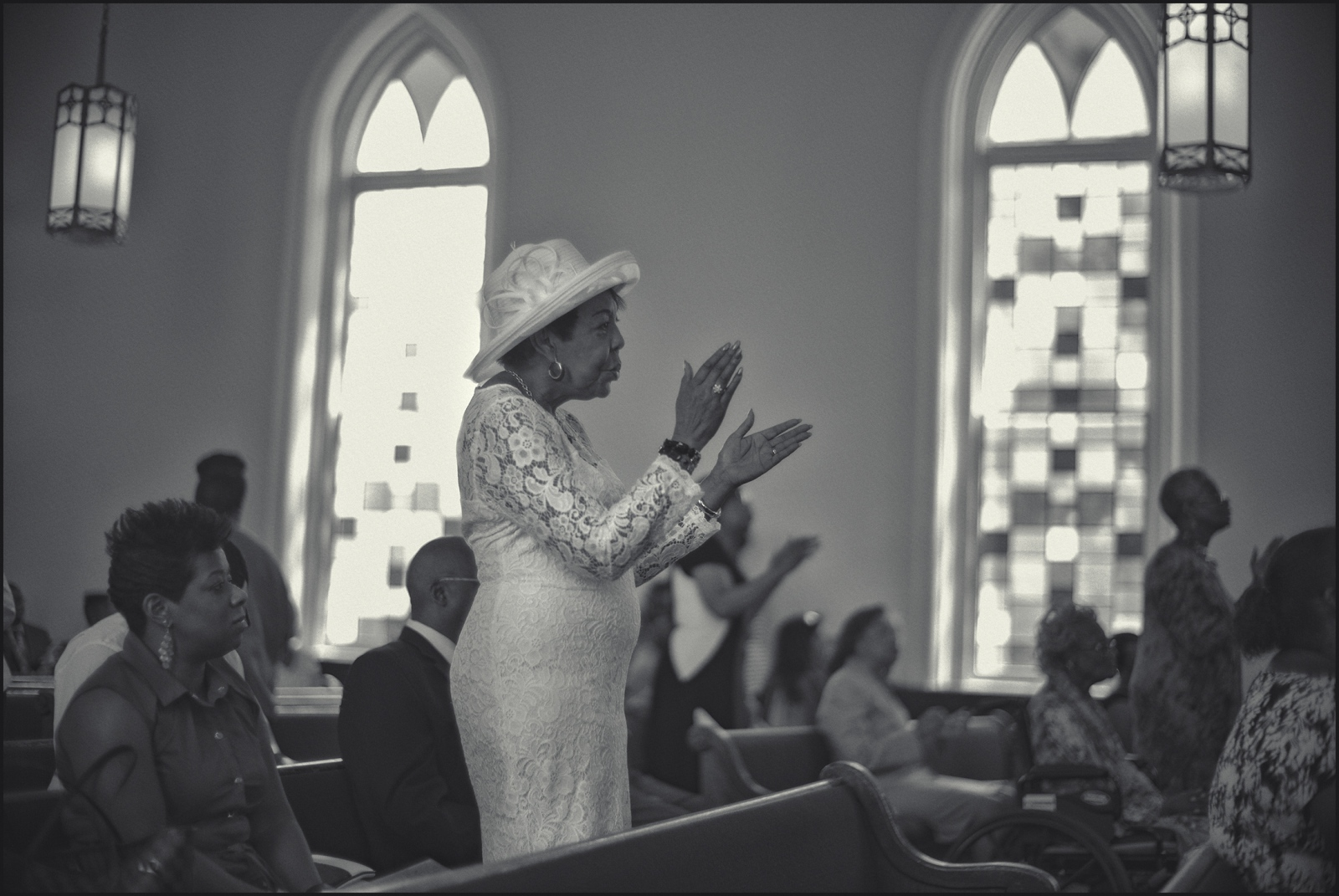 Sunday service Dexter Avenue King Baptist Church, ground zero for the USA Civil Rights Movement in the 1960s. Montgomery, AL. 2016.