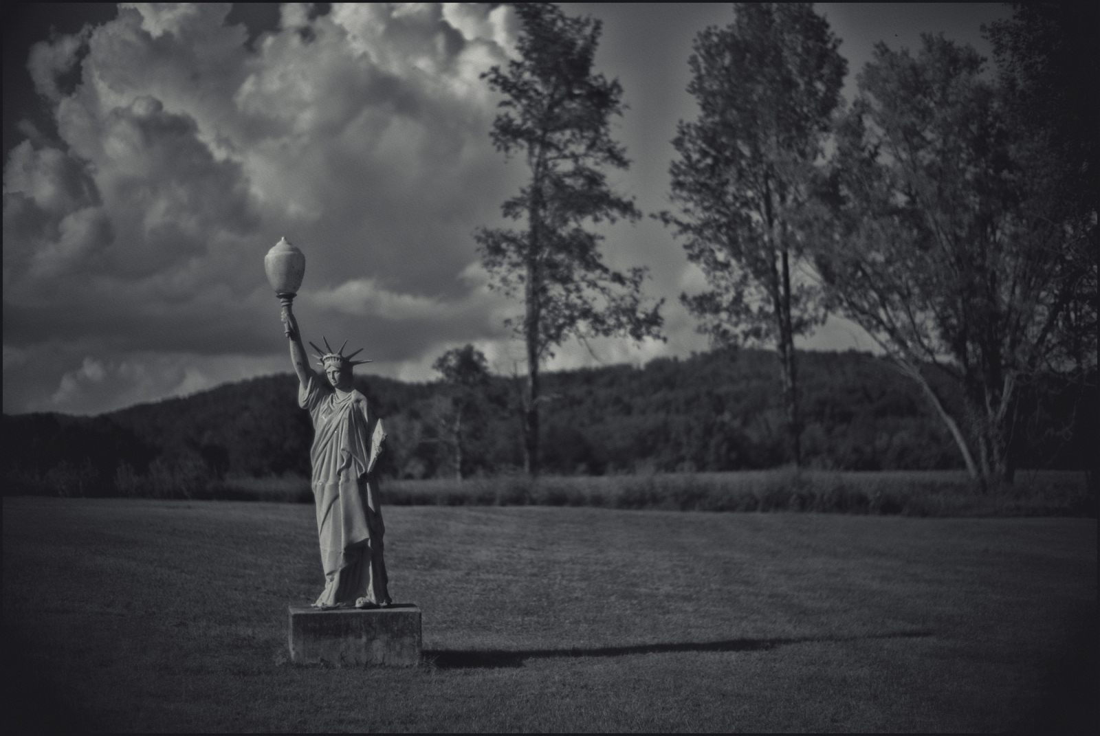 """Lady Liberty"". Alone in a field along a county road at the Kentucky- Tennessee line. Pal Mal, Tn. 2016."