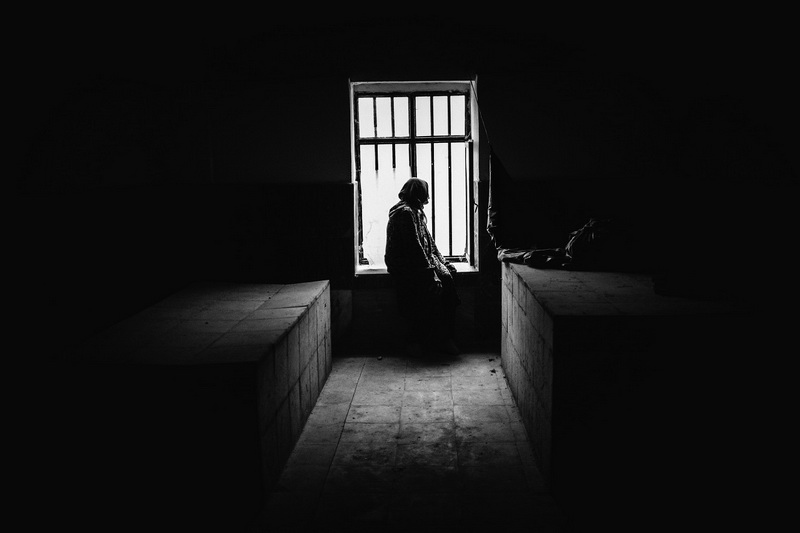 """Mustafa Salari died fighting in the Iran-Iraq war and his body was never returned to his family. Salari's father made this small room for his son, open to the public for prayer and contemplation. Salari's mother often visits the site, crying alone for hours. Photo from """"Mothers of patience"""" project"""