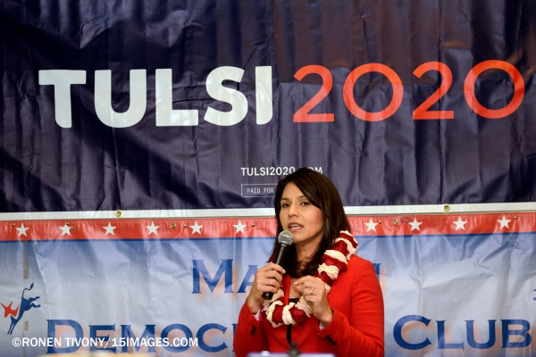 Tulsi Gabbard Campaigns in Malibu - Election 2020