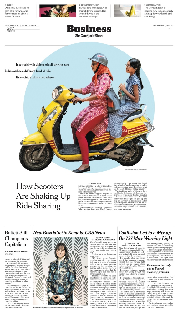 The New York Times Ride-Sharing's Future? It May Sit on Electric Motorbikes