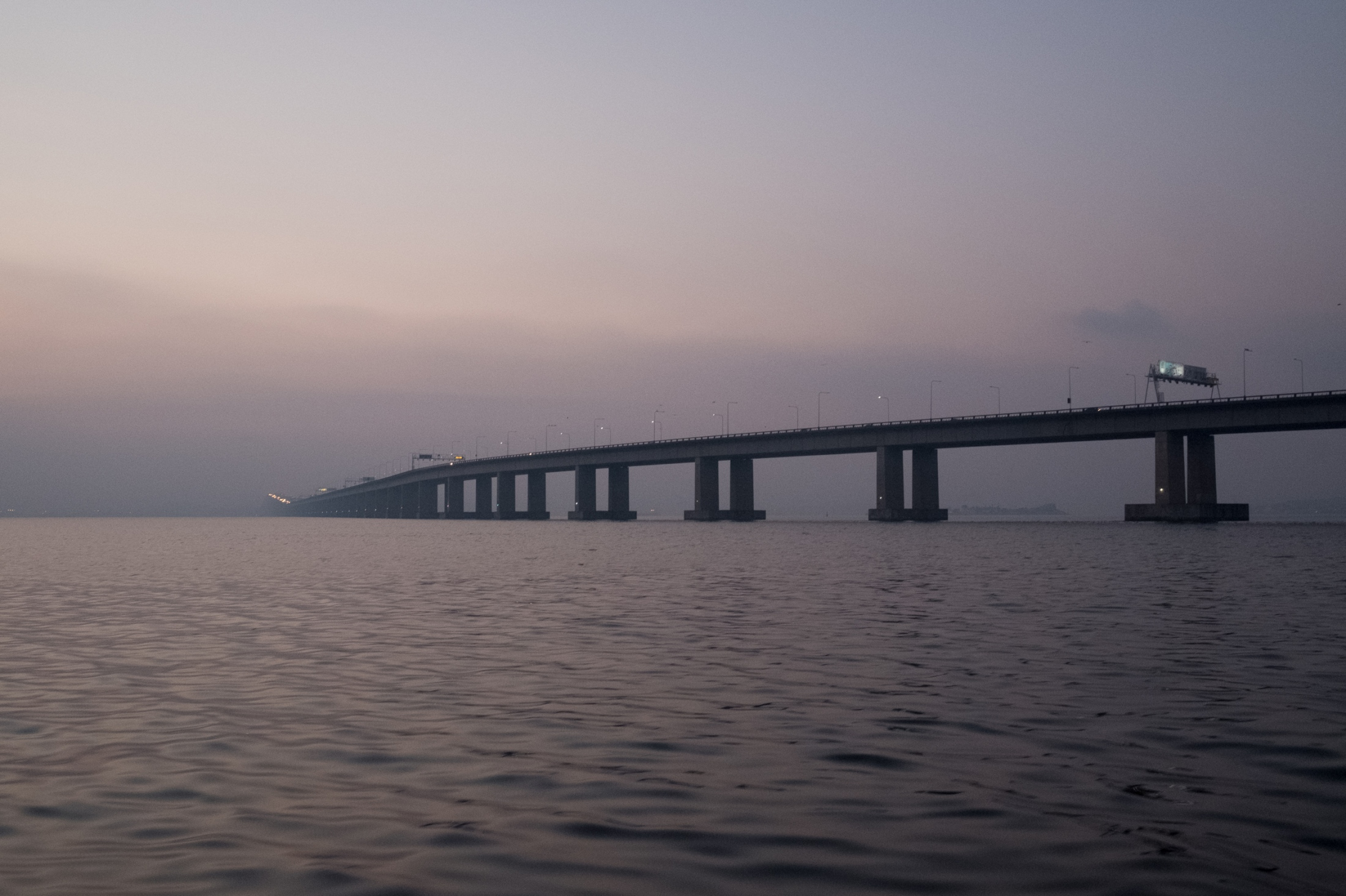 The bridge to Niteroí, on the opposite side of the bay from the city of Rio.
