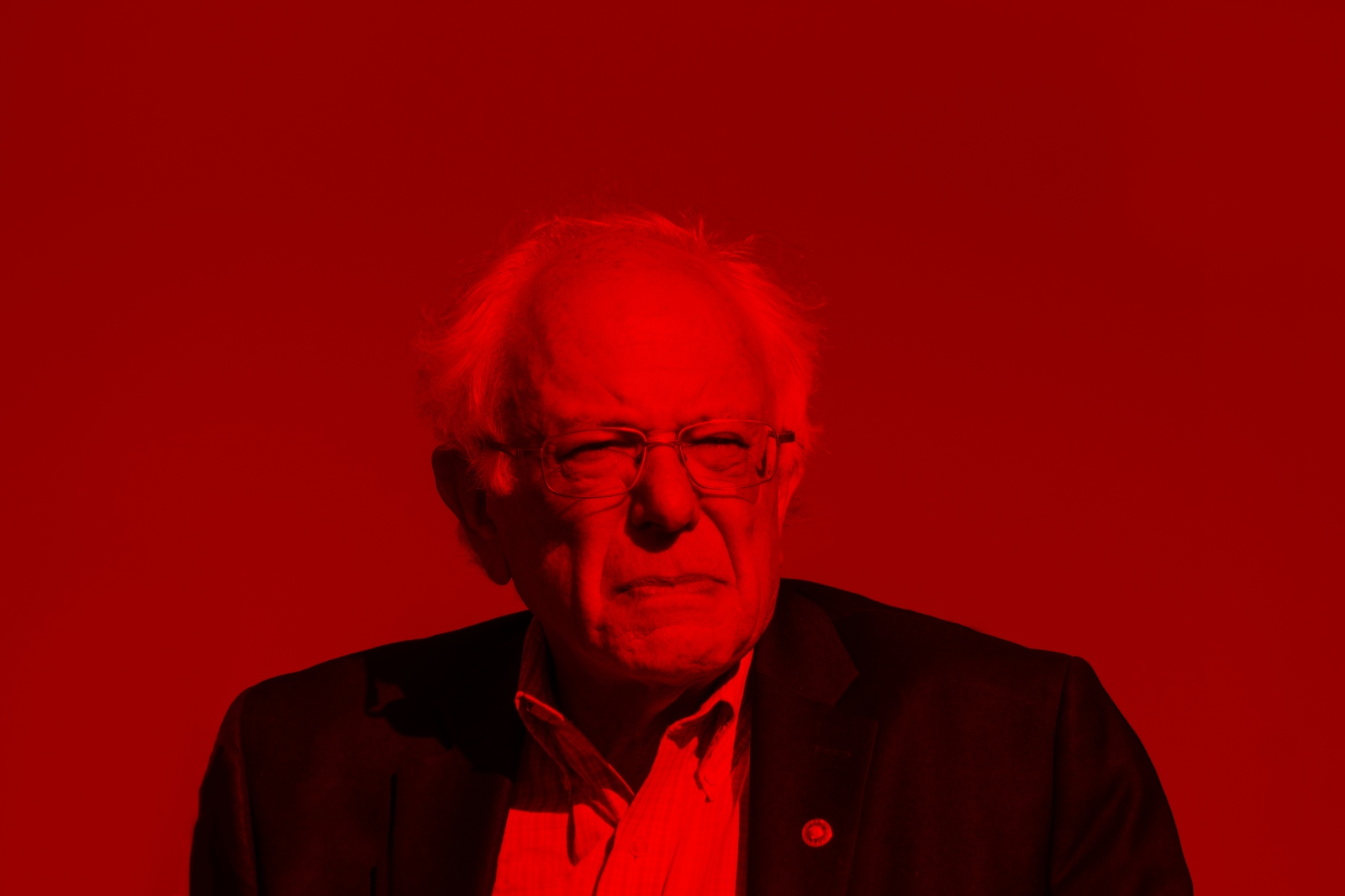 Photography image - Portrait of Presidential Candidate, Bernie Sanders.