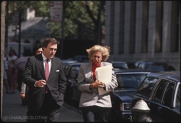 Detective Mike Sheehan and Linda Fairstein head of the Manhattan DA's Sex Crime Unit