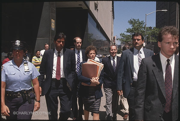 Elizabeth Lederer - Asst. District Attorney, lead attorney for the trials, Arthur Clements III (3rd from left)