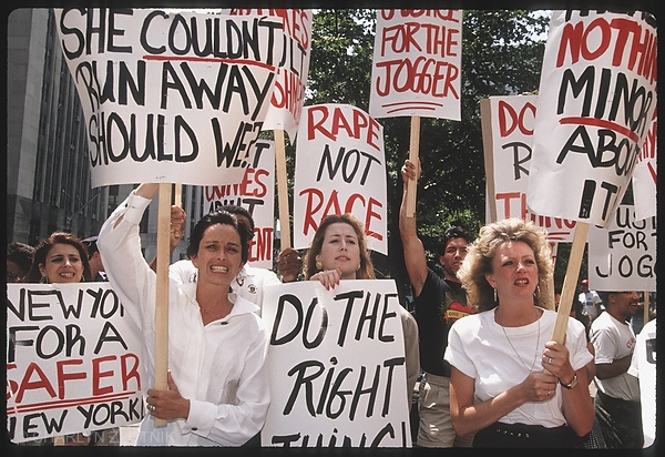 Protest in support of the jogger