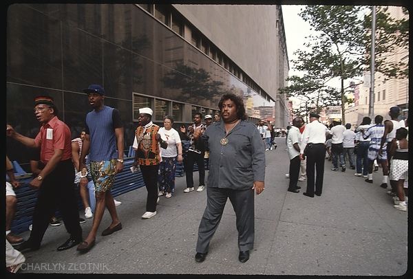 Al Sharpton, leading protesters in support of the boys