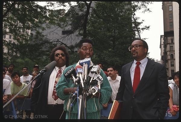 Al Sharpton, Bobby McCray and Vernon Mason