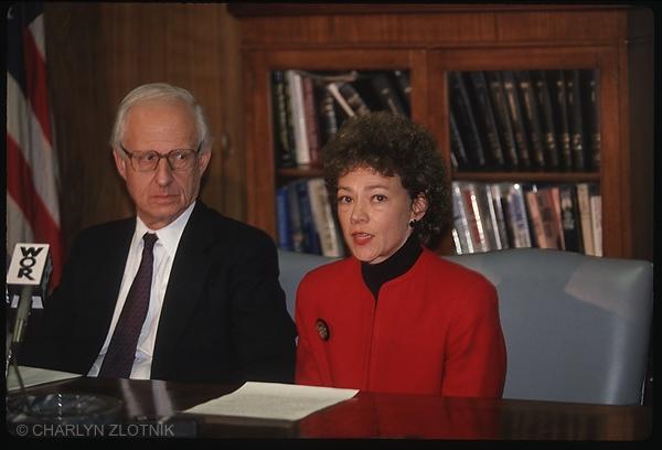 Robert Morgenthau - Manhattan District Attorney with Elizabeth Lederer