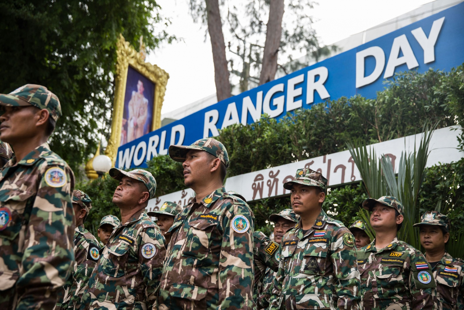 Thai Forest Rangers from every National Park in Thailand take part in World Ranger Day 2018 celebrations at the Department of National Parks in Bangkok, Thailand. July 31 2018