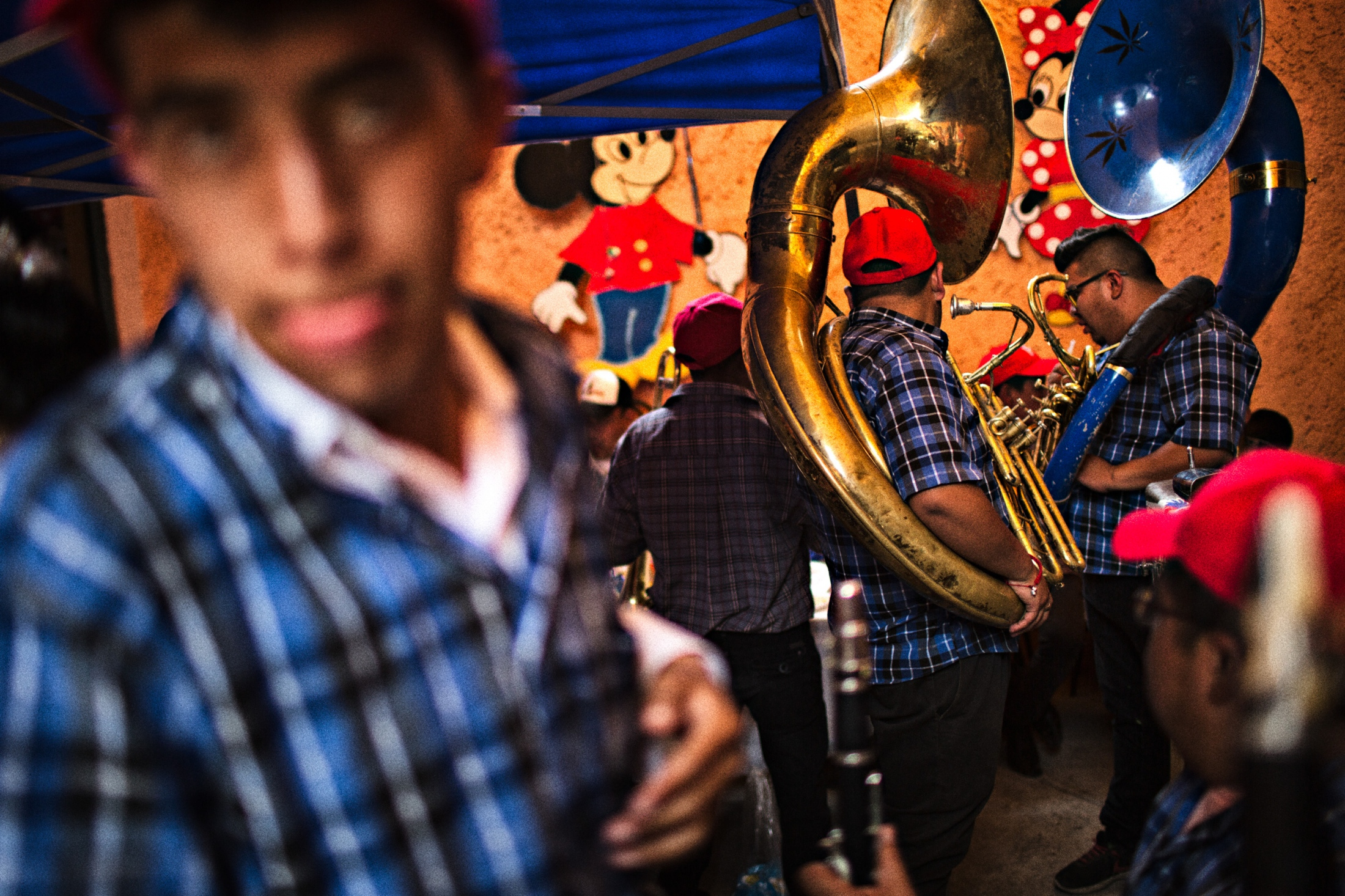 Musicians are omnipresent at all events around Niñopa.