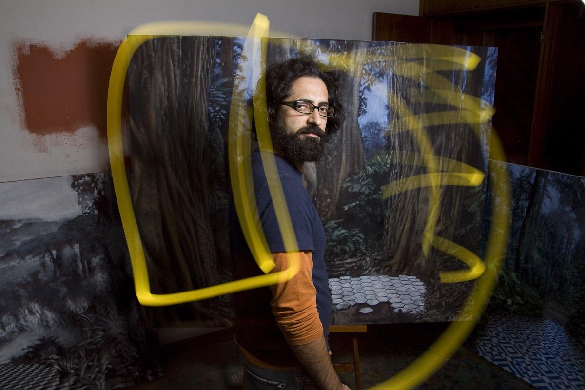 Jesus Martinez, artista para Folha de São Paulo / Jesus Martinez, artist for Folha de Sao Paulo