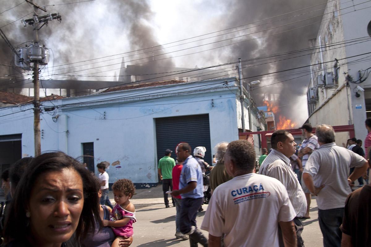 Incêndio na favela do Moinho / Fire in the Moinho favela