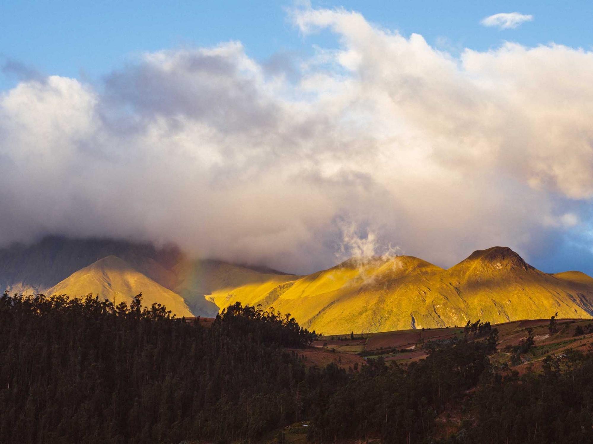 Photography image - Imbabura Volcano covered in clouds. Otavalo, Ecuador.