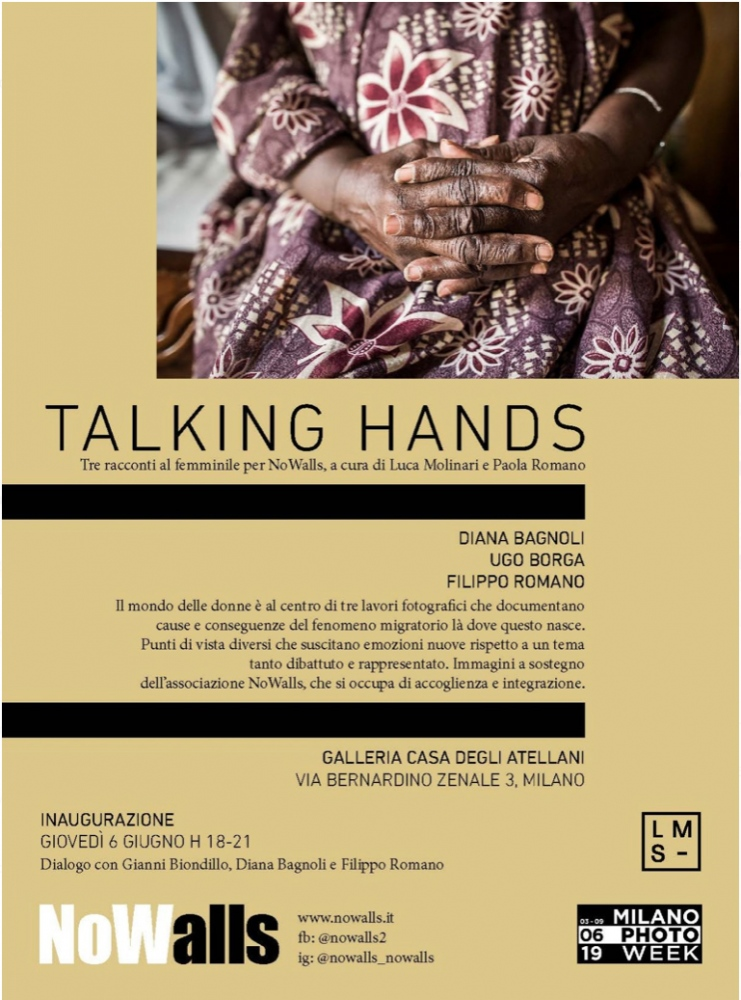 Exhibition with the NGO No Walls, a story about migrant's mothers in Segegal, during the Photo Week in Milan.