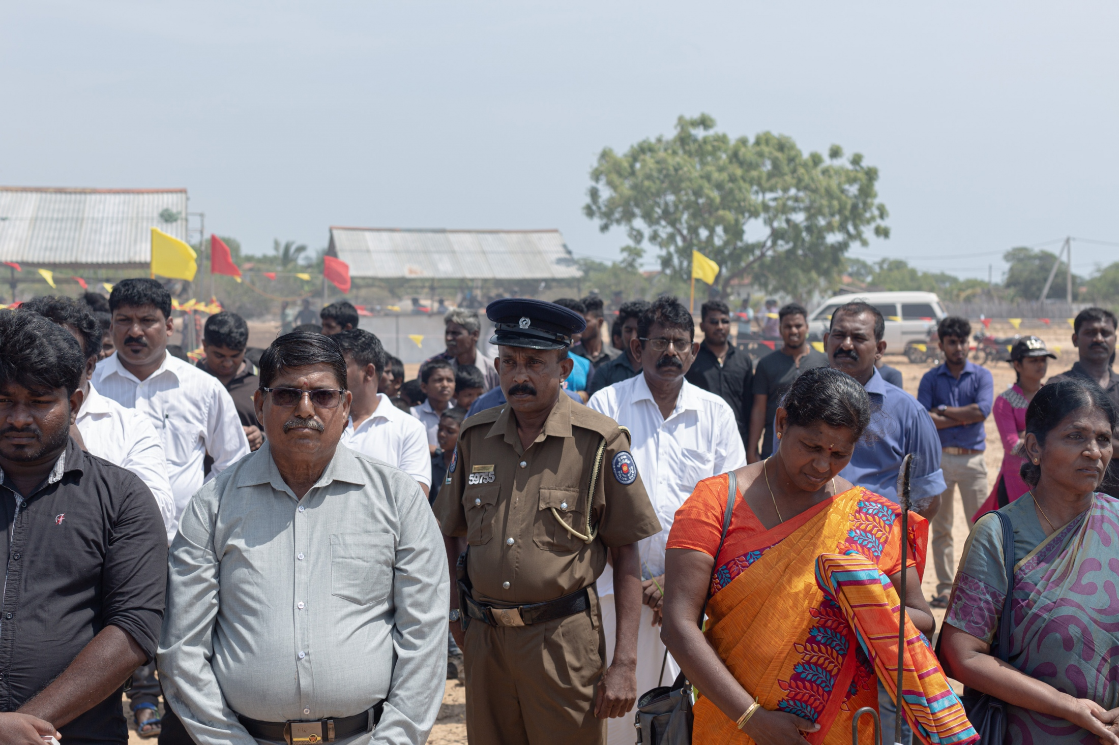 The army surround the Mullivaikkal Remembrance Day Service, taking down identification details of everyone in attendance. In the last decade, enforced disappearances (when a person is secretly abducted or imprisoned by a state) have been a widespread tactic against those campaigning for the truth about how the war ended and justice for those responsible. (May, 2019)