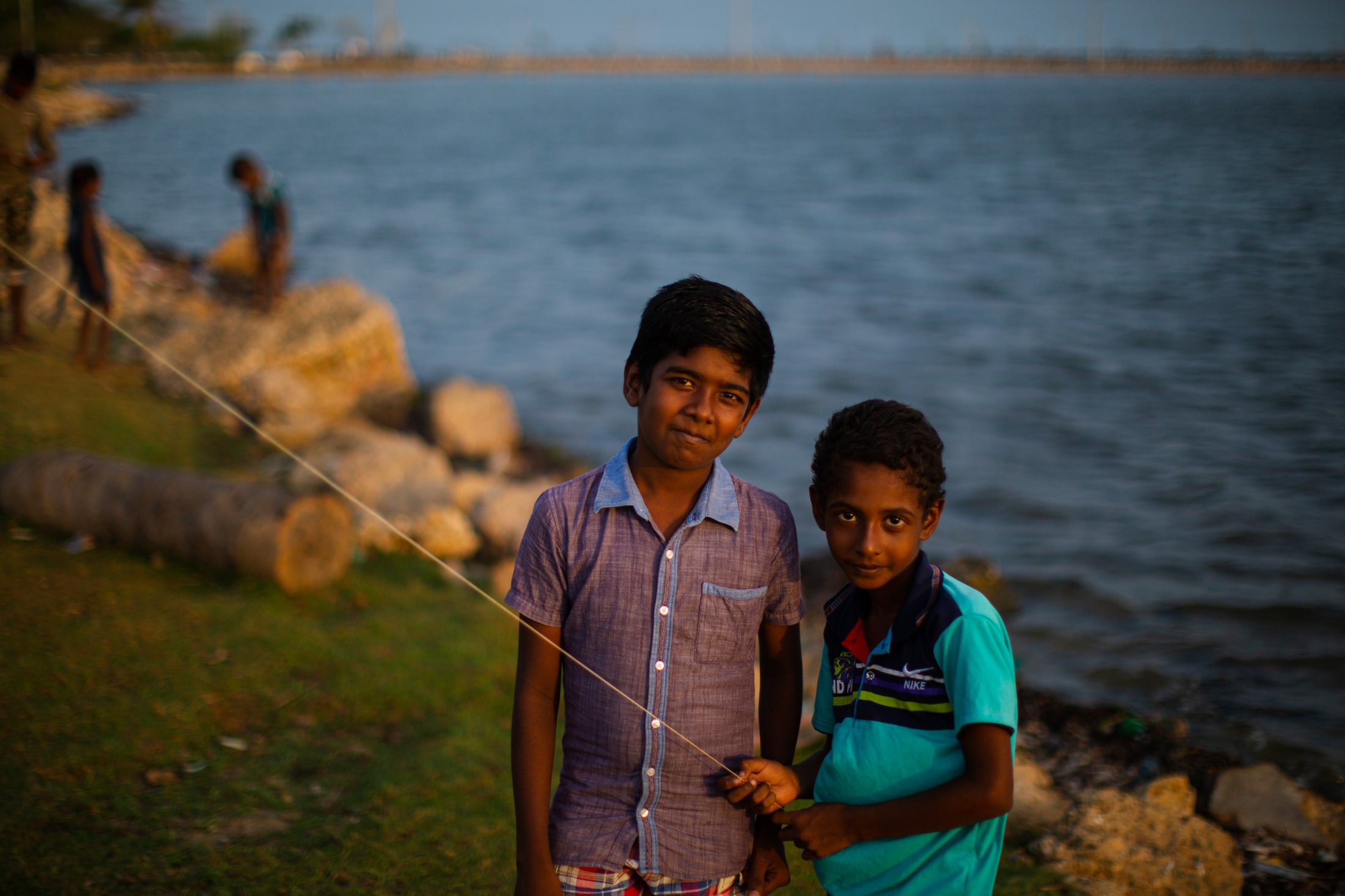 Kite flying at the end of the day in Jaffna (May, 2019)