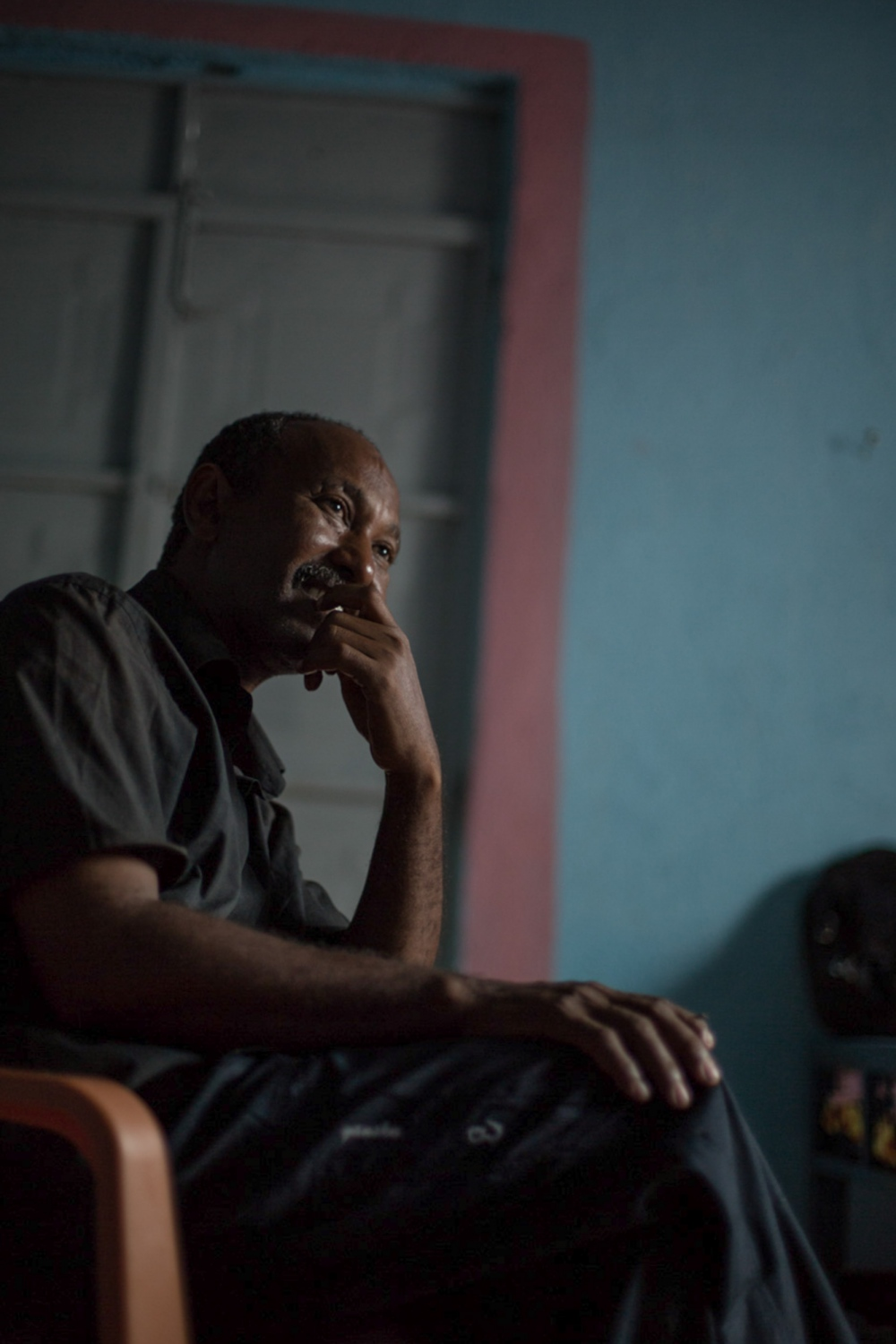 Solomon has been at Hitsats camp since 2003. He has been waiting to hear from the UNHCR about his asylum application for 15 years.