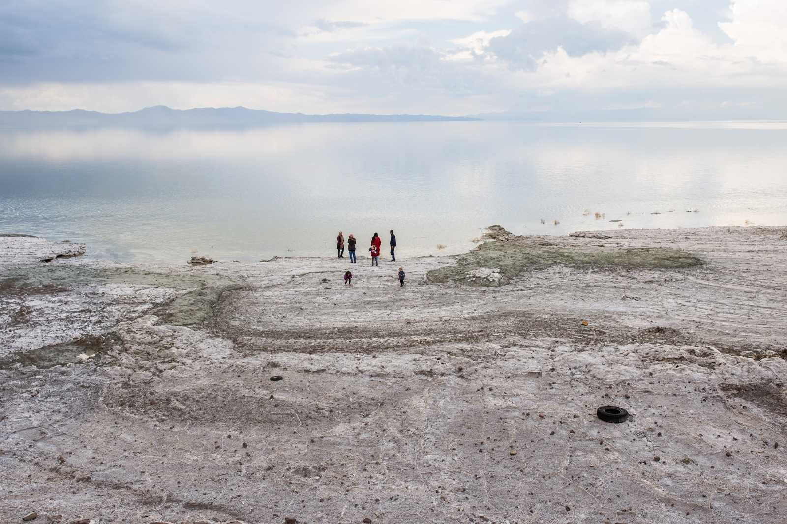 People came to visit lake Urmia and to take pictures from what remains of it. Lake Urmia is showing signs of recovery in some small parts because of heavy rainfalls this year. The tourism sector has lost out While the lake once attracted visitors from near and far. Lake Urmia|West-Azerbaijan|Iran| 2016