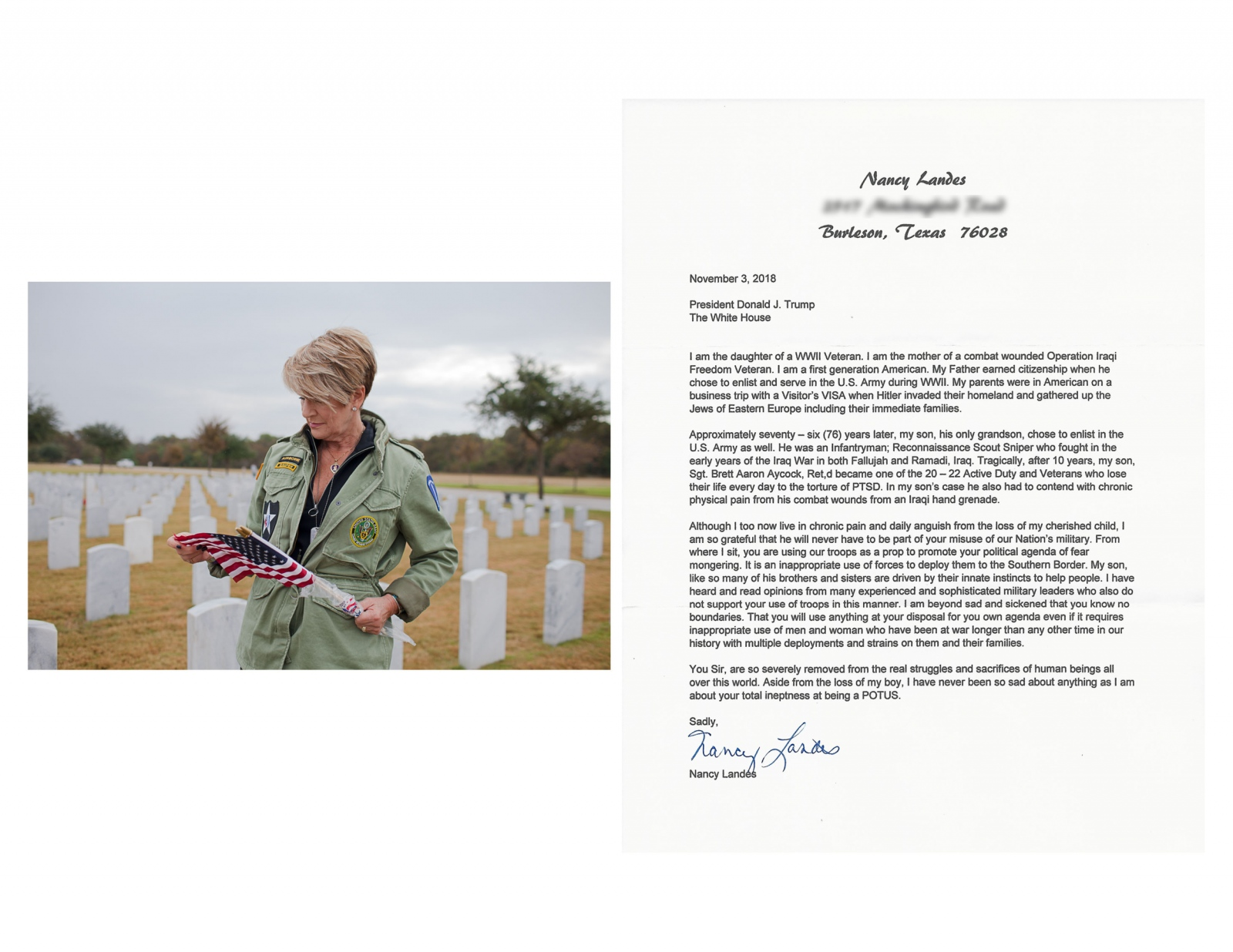 Photography image - Loading 20181103_nancy_landis_burleson_texas_veterans_border_postcards_from_americans.JPG