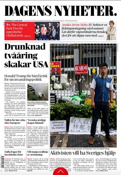Dagens Nyheter, June 2019