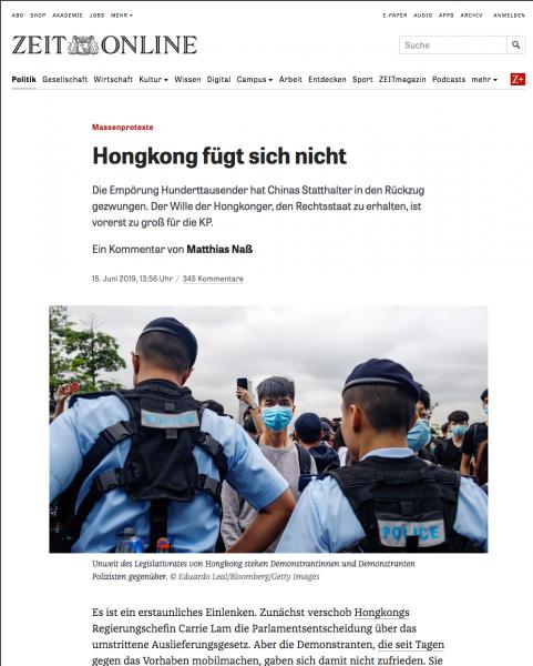 Zeit Online, June 2019