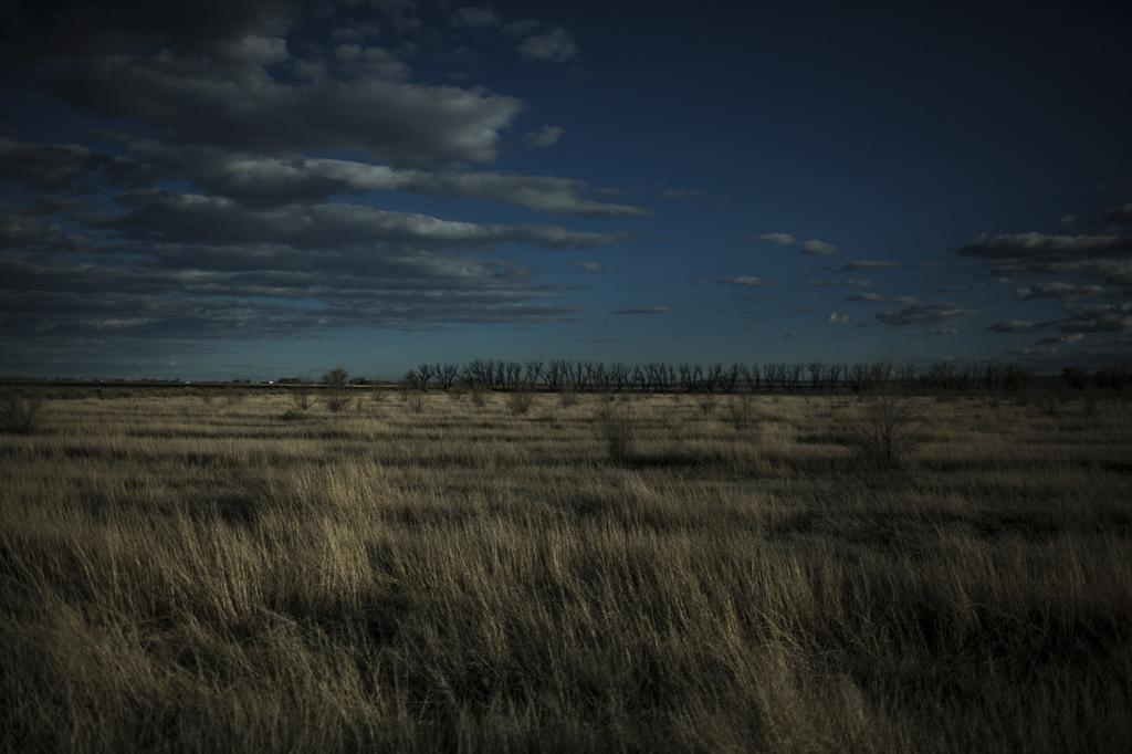 San Luis Valley landscape. Alamosa, Colorado.