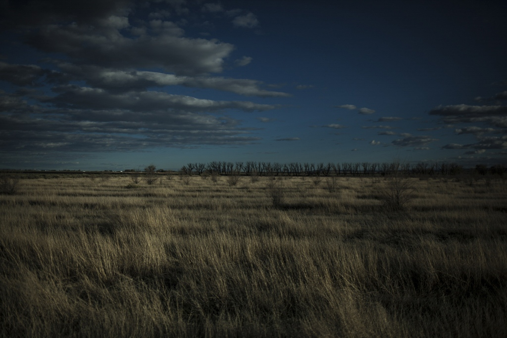 San Luis Valley landscape. Alamosa, Colorado.