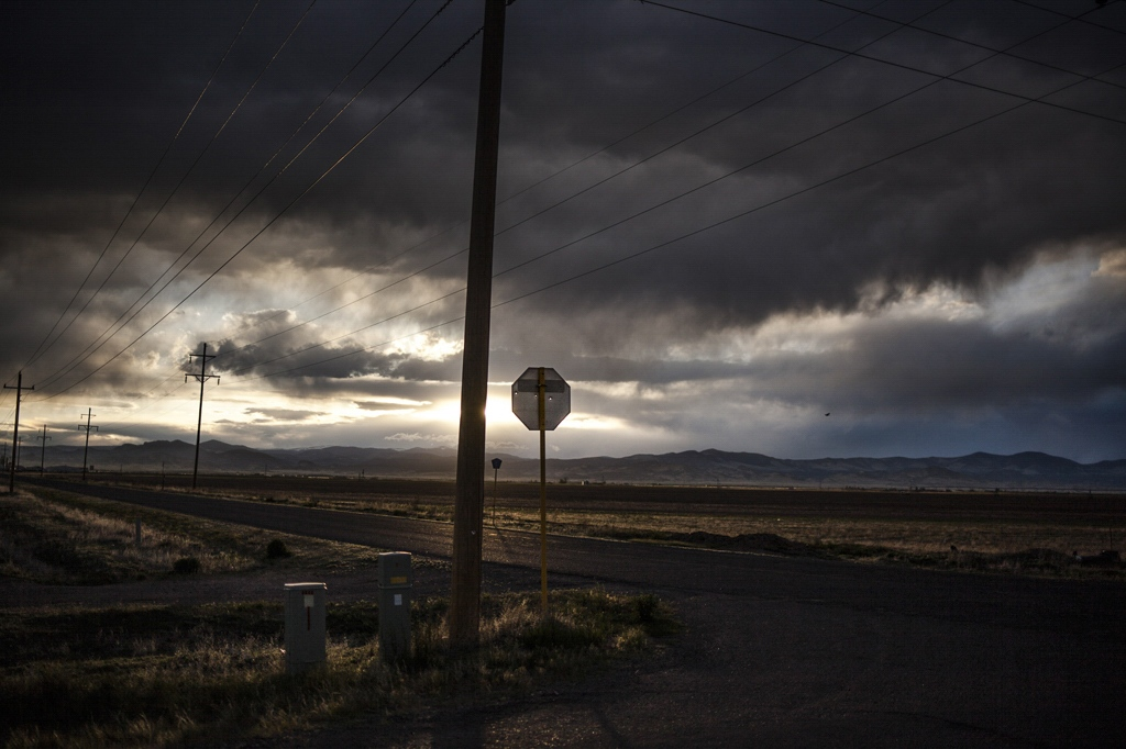 No more than 500 people inhabit the town of Saguache. There are no shopping centers or stores, which forces people to drive 45 minutes to stock up on groceries. Saguache, Colorado.