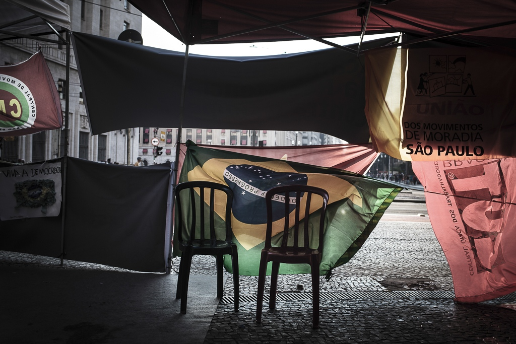 Demonstrations and protests are part of the daily life of citizens of Sao Paulo.  During the nineties, the working class and social groups began squatting in abandoned buildings in São Paulo's (Brazil) downtown. Today, there are more than 40 different movements that congregates families, immigrants and/or workers occupying hundreds of abandoned properties throughout the country.
