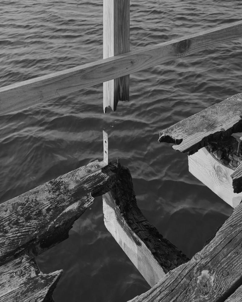 A burned dock on 86st.