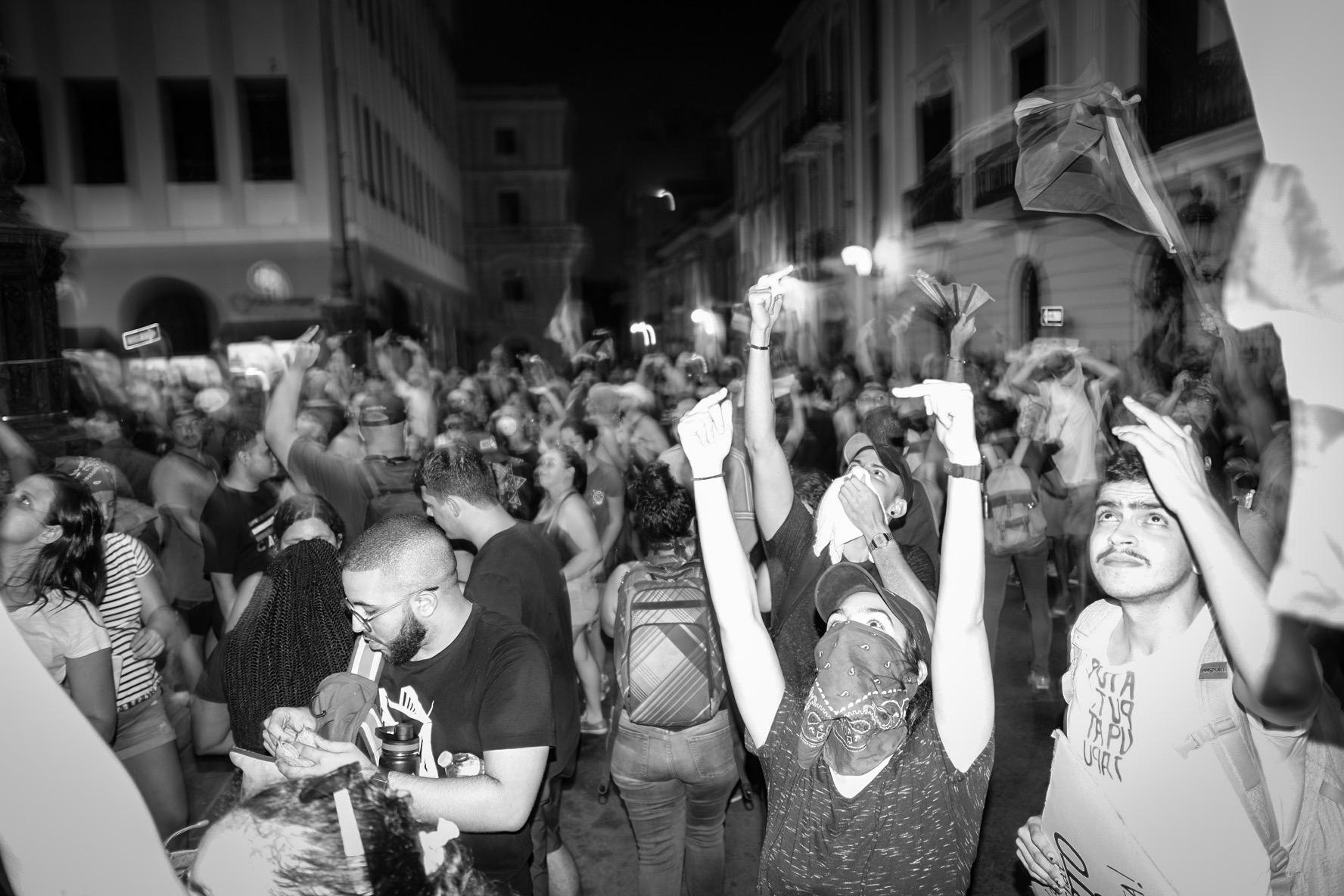 Protest against the Governor of Puerto Rico demanding his resignation. 7/15/19 San Juan, PR.