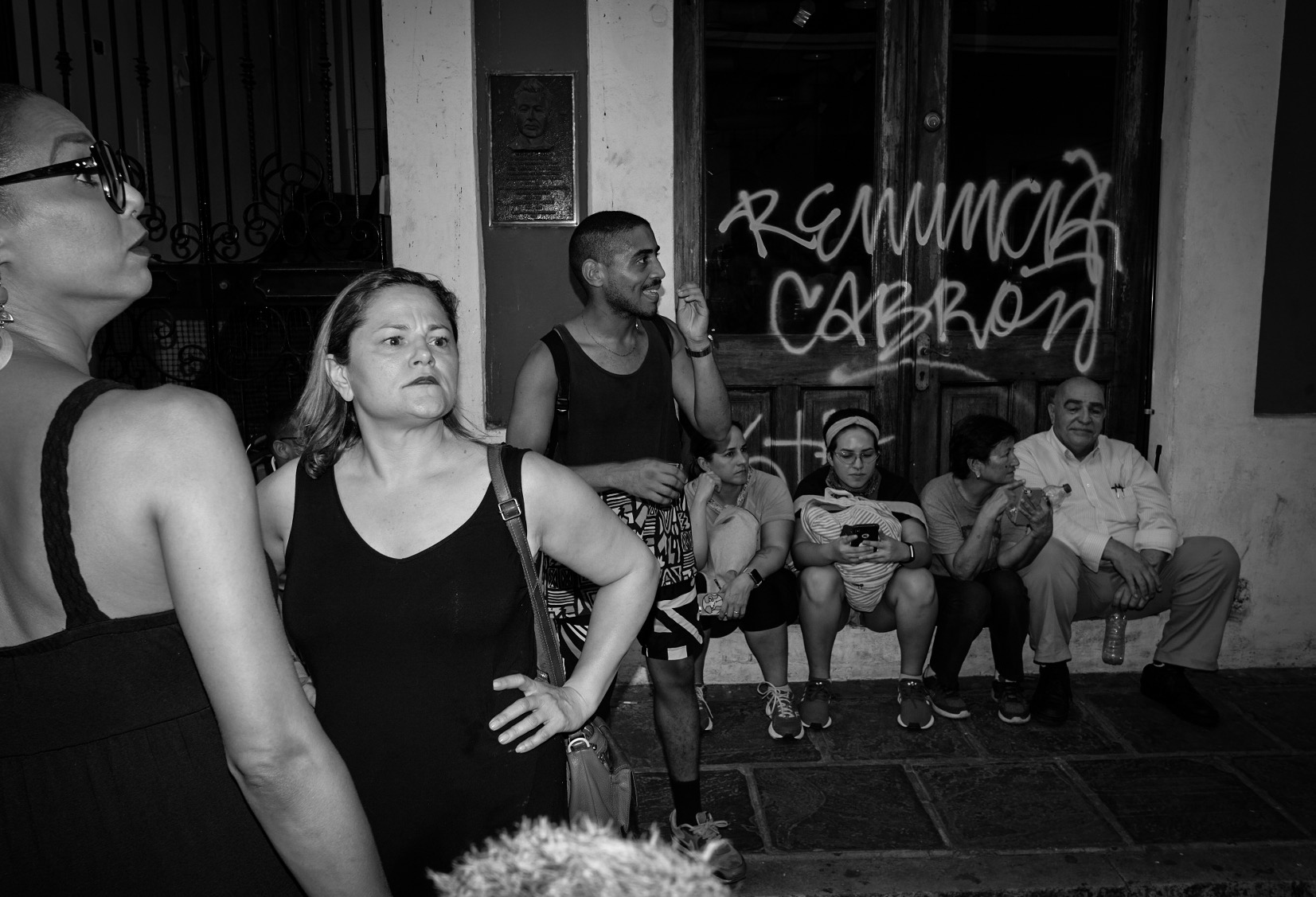 Melissa Mark Viverito whom Governor Ricardo Rossello called a whore in a chat with government officials among others. Protest against the Governor of Puerto Rico demanding his resignation. 7/15/19 San Juan, PR.
