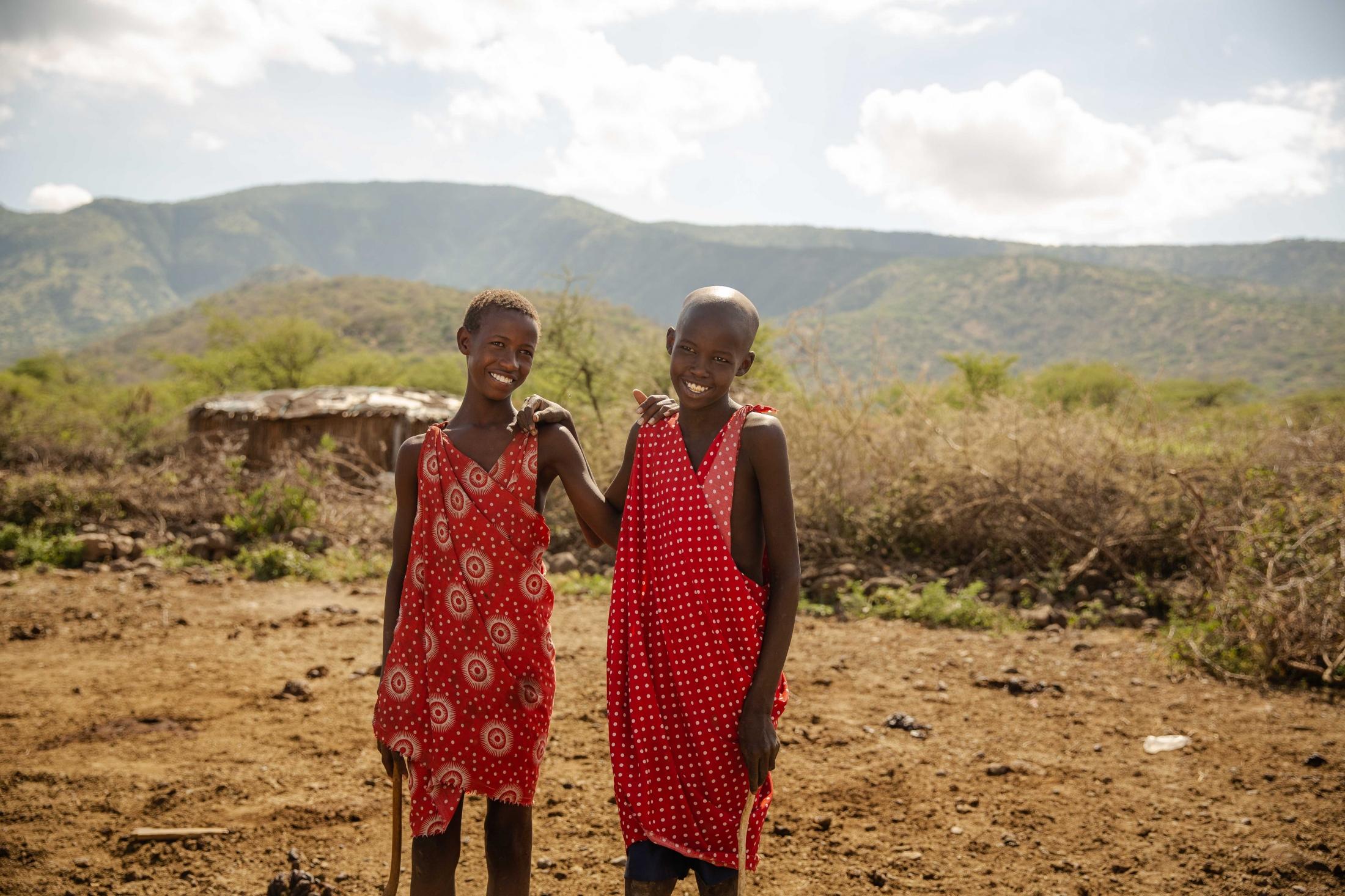 Masai friends in Kajiado, Kenya. For World Relief.