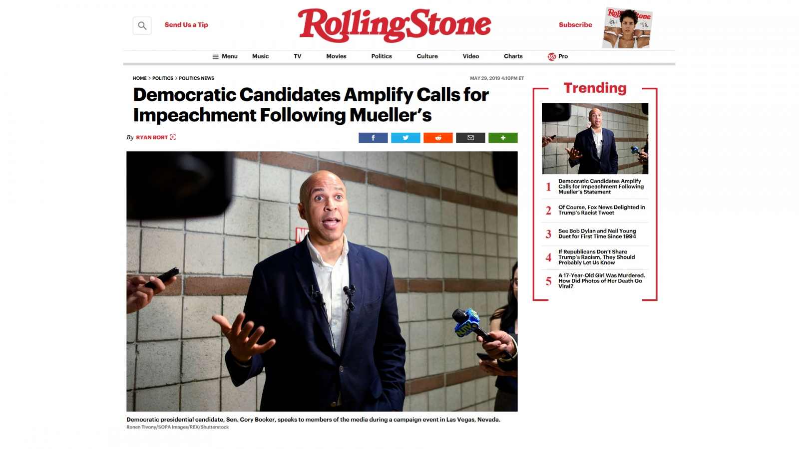Photography image - Loading Rolling_Stone_Cory_Booker.jpg