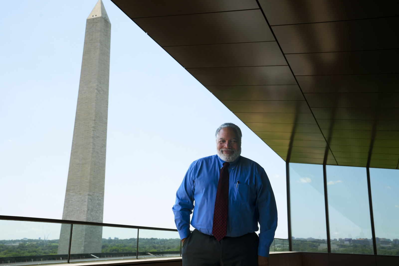 Lonnie Bunch, the founding director of the National Museum of African American History and Culture, stands for a portrait at his office in Washington D.C. He will soon become the Smithsonian Institution's new secretary.